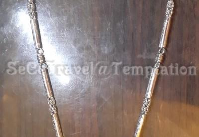HK$200 泰國佛牌專用 不銹鋼單釦經文型頸鏈 全長-72cm 寬-5cm