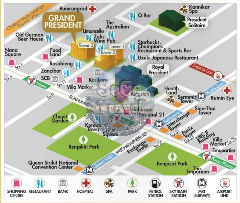 SeCeTravel-Grand President Hotel Bangkok-map-2