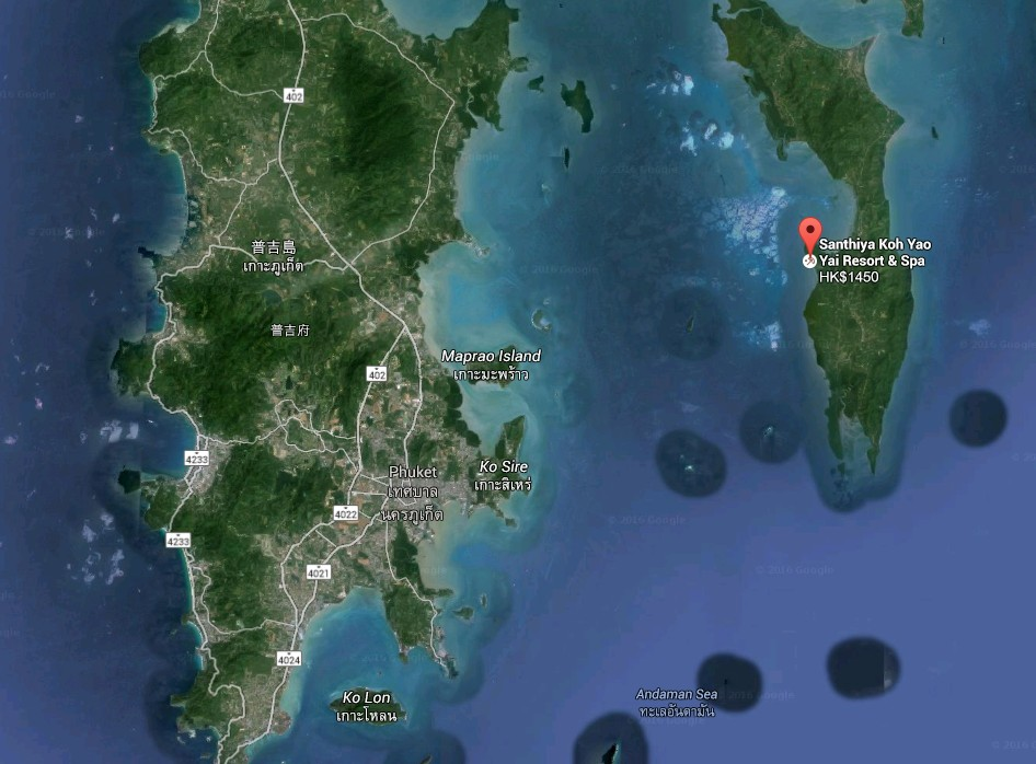 SeCeTravel - Koh Yao Yai - 瑤諾島-map
