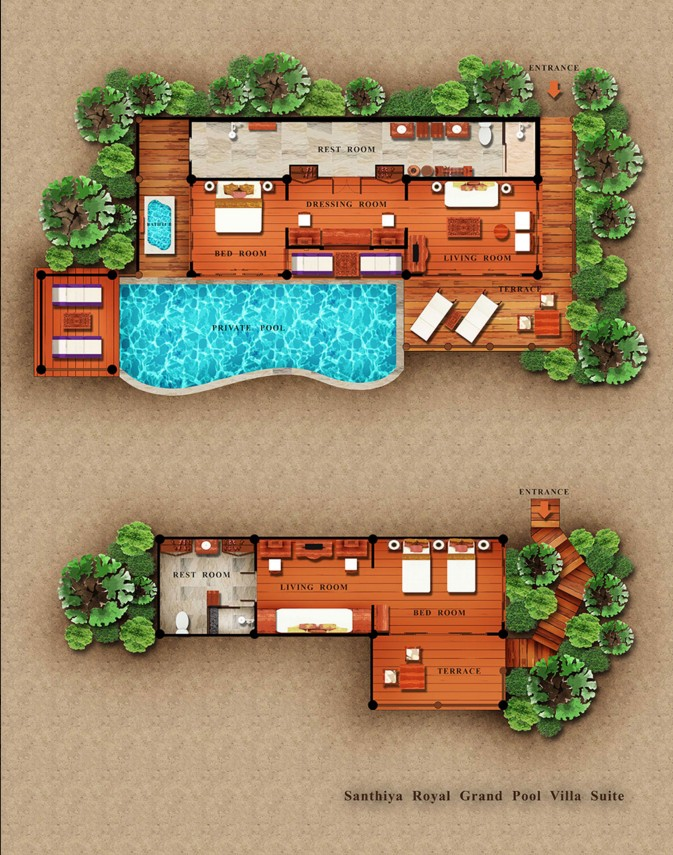 SeCeTravel-Santhiya Royal Grand Pool Villa Suite Floor Plan