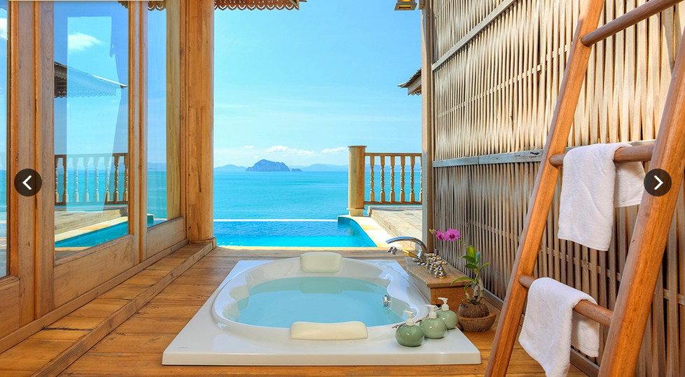SeCeTravel-Santhiya Royal Grand Pool Villa Suite - MASTER OUTDOOR BATH