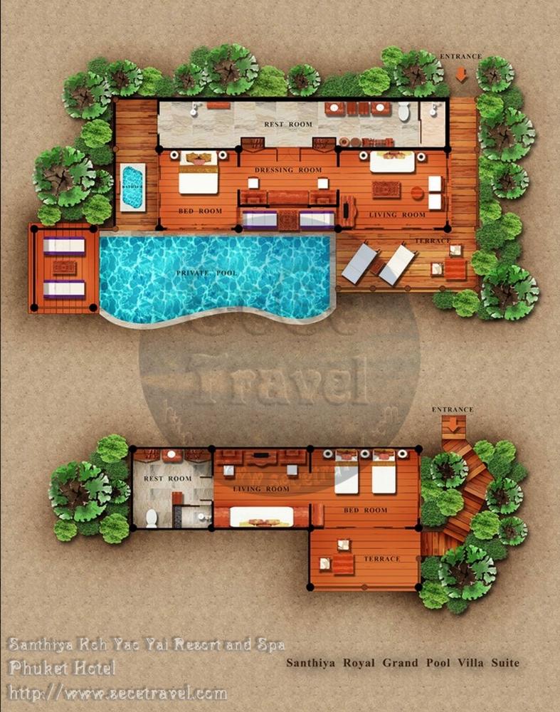 SeCeTravel-2016再戰布吉島~4月@轉轉轉酒店9天遊預告篇-Santhiya Royal Grand Pool Villa Suite Floor Plan