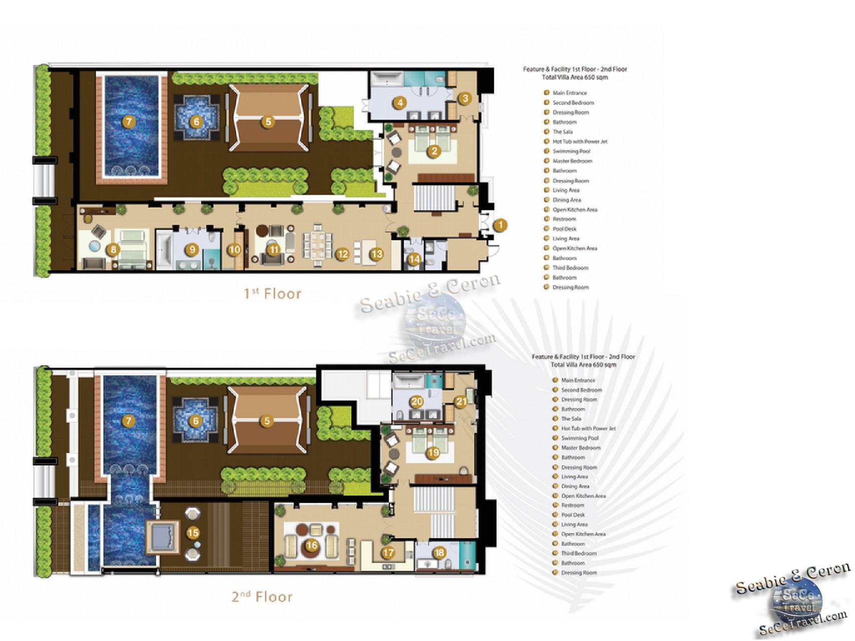 SeCeTravel-Maikhao Dream Villa Resort and Spa-3 BEDROOM POOL VILLA-Floor plan
