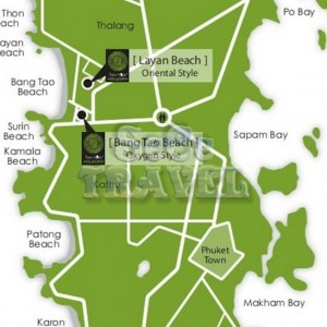 SeCeTravel-TWO-VILLAS-HOLIDAY-PHUKET-OXYGEN-STYLE-Bang-Tao Beach-MAP-2