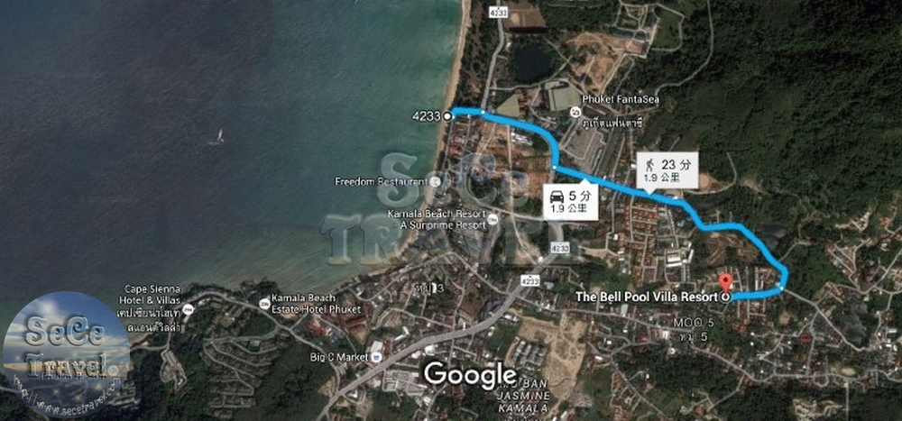 THE BELL VILLA PHUKET MAP