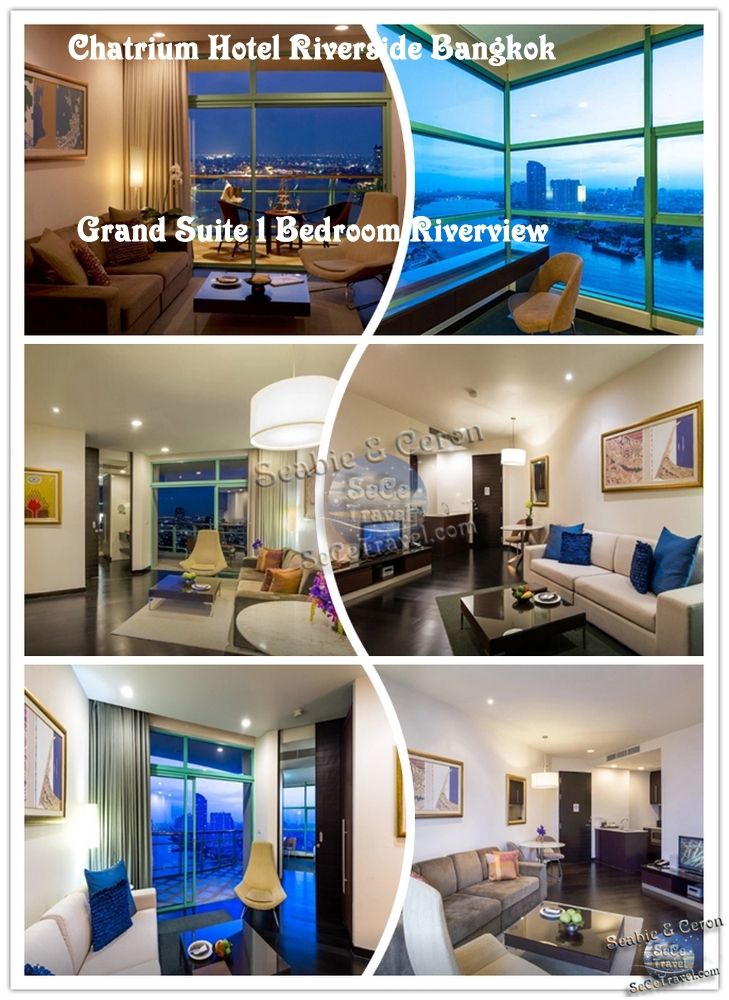 Chatrium Hotel Riverside Bangkok-GRAND 1 BEDROOM LIVING