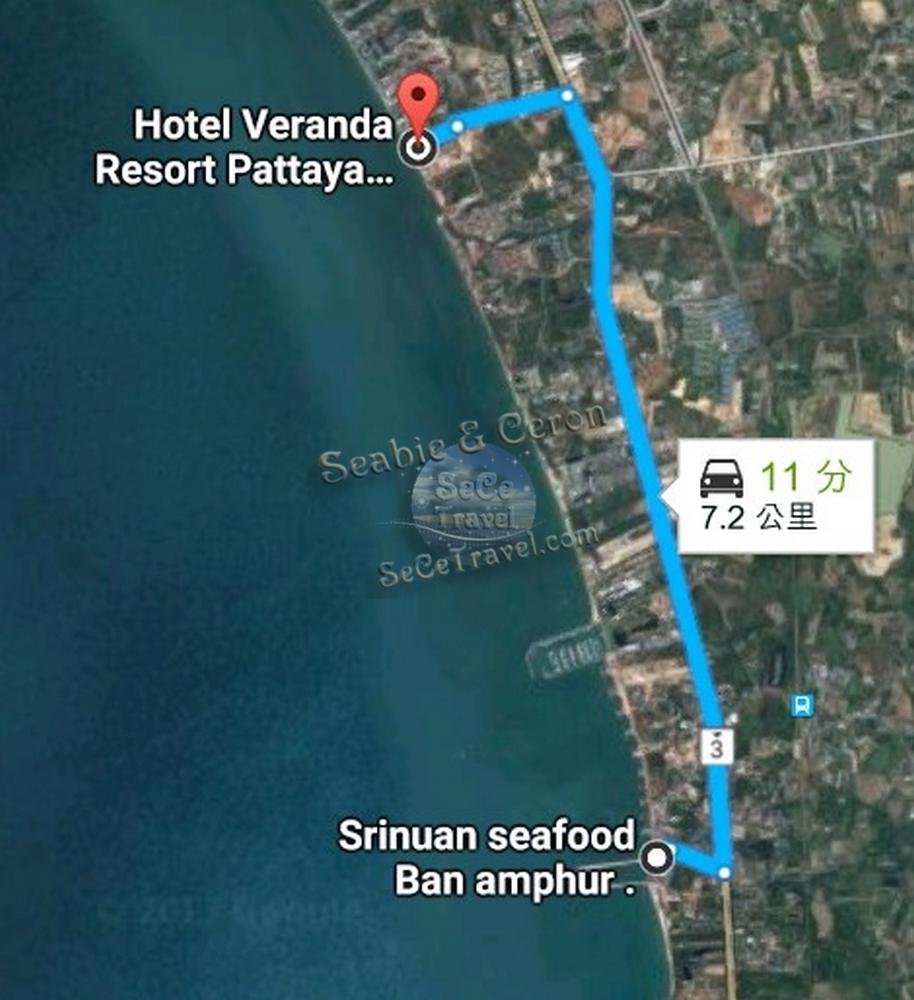 SeCeTravel-Veranda-Srinuan Seafood Ban amphur-Map