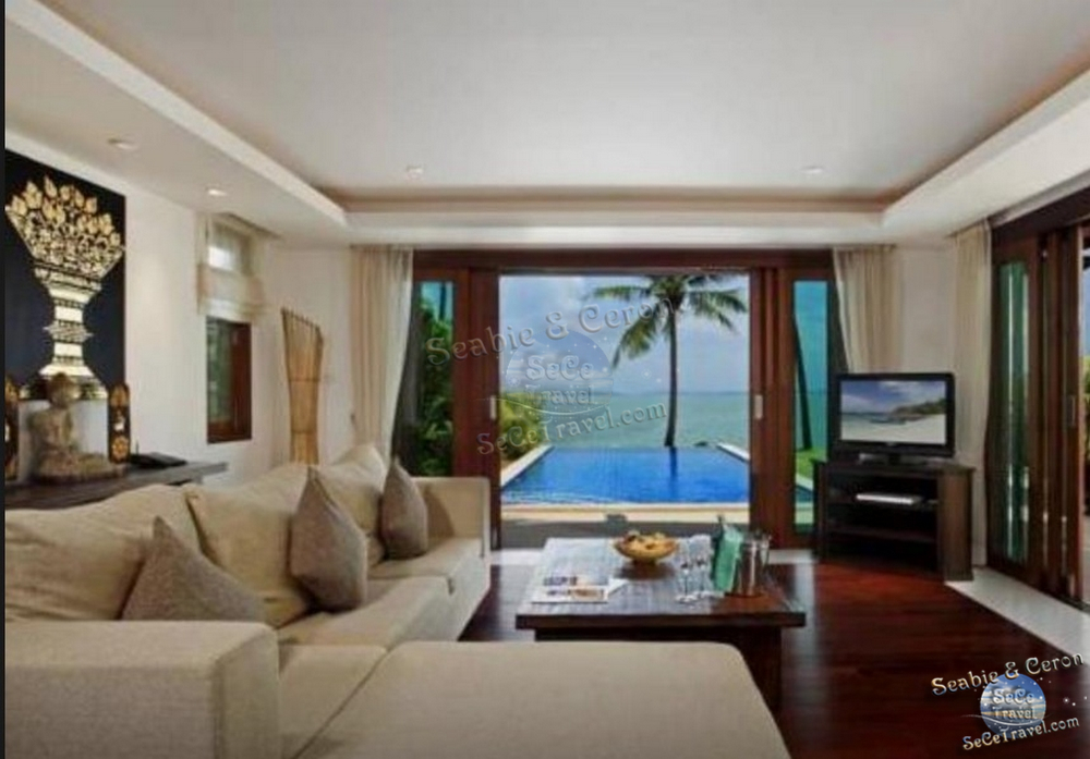The Village Coconut Island Beach Resort-2 BEDROOM BEACH FRONT POOL VILLA-LIVING-1