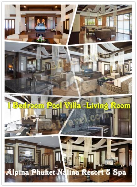 SeCeTravel-Alpina-1bed room pool villa-living room
